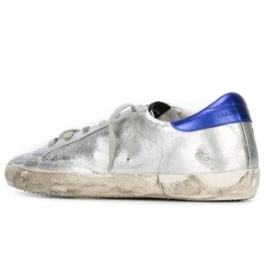 Golden Goose Shoes - Golden goose superstar silver stripe sneakers